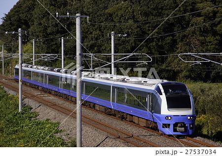 JR東日本 E653系電車(オーシャンブルー) 常磐線 佐貫~牛久の写真 ...