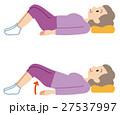 シニア 体操 介護予防のイラスト 27537997