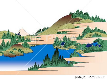 富嶽36景箱根湖水のイラスト素材 27539253 Pixta