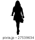 Black silhouettes of beautiful woman on white 27539634