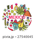 Doodles hand drawn science illustration of Mexico 27540045