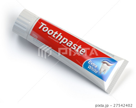 Ttoothpaste containers isolated on whiteのイラスト素材 [27542402] - PIXTA
