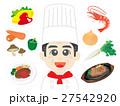 コック 料理人 シェフのイラスト 27542920