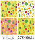 Set of seamless patterns with fruits and berries 27546081