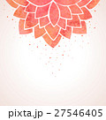 Watercolor red flower pattern. Vector background 27546405