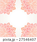Watercolor pink floral background 27546407