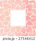 Watercolor pink floral frame. Vector illustration 27546412