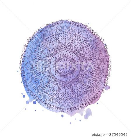 Watercolor mandala. Vector isolated elementのイラスト素材 [27546545] - PIXTA