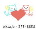 ハートと猫 27548858