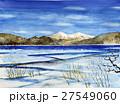 安達太良山と猪苗代湖のスケッチ 27549060