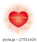 ハート ハート型 バレンタインデーのイラスト 27551424