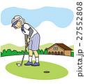 ゴルフするおばあさん 27552808