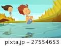 キッズ 子供 ジャンプのイラスト 27554653