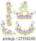 花 スイトピー フレームのイラスト 27556246