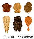 Women Hairstyle Back View Icons Collection 27556696