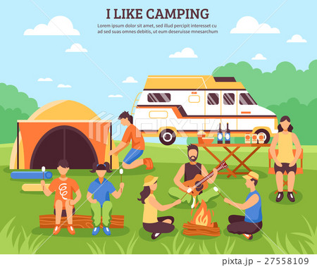 I Like Camping Composition 27558109