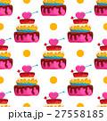 ケーキ シームレス パターンのイラスト 27558185