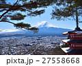 富士山 雪 冬の写真 27558668