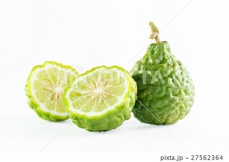 Green rough peel bergamot fruit or kaffir lime 27562364