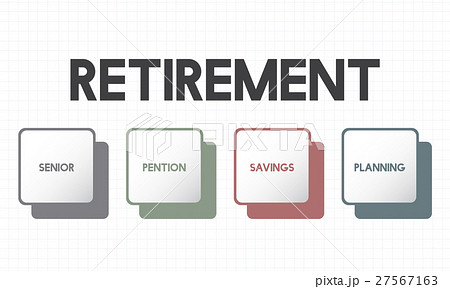 retirement plan budget investment conceptのイラスト素材 27567163