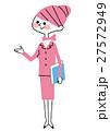 案内 女性 会社員のイラスト 27572949