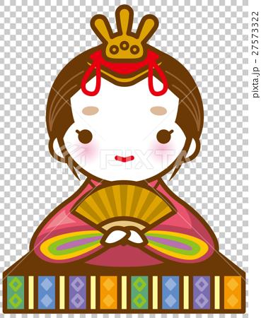 ひな人形 女雛イメージイラスト 27573322