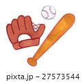 野球の道具(グローブ・バット・ボール) 27573544