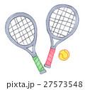 テニスボールとラケット 27573548