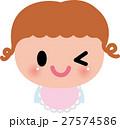 赤ちゃん ベビー 笑顔のイラスト 27574586