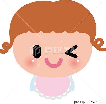 赤ちゃん ベビー 笑顔  ウィンク 27574586