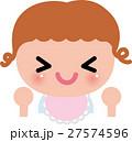 赤ちゃん ベビー 笑顔のイラスト 27574596