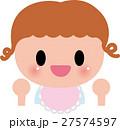 赤ちゃん ベビー 笑顔のイラスト 27574597