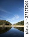 池 映り込み 青空の写真 27575209