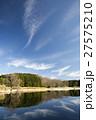 池 水鏡 青空の写真 27575210