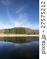 池 水鏡 青空の写真 27575212