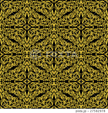 Seamless vector illustration with gold ornament  27582978