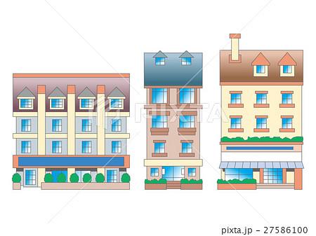 街並みヨーロッパ街並みのイラスト素材 27586100 Pixta