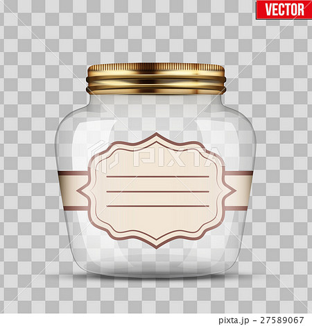 Glass Jar for canning with labelのイラスト素材 [27589067] - PIXTA