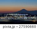 羽田空港 夕景と富士山 27590660