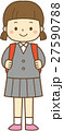小学生 新入生 入学のイラスト 27590788