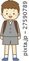 小学生 新入生 入学のイラスト 27590789