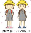 小学一年生と花びら 27590791