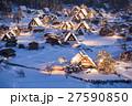 白川郷 ライトアップ 冬の写真 27590850