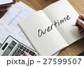 Overtime Additional Working Hours Hard Work Overload Concept 27599507
