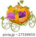 乗り物 かぼちゃ シンデレラのイラスト 27599650