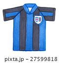 サッカー ユニフォーム ストライプのイラスト 27599818