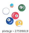 ビリヤードの球とチョーク 27599819