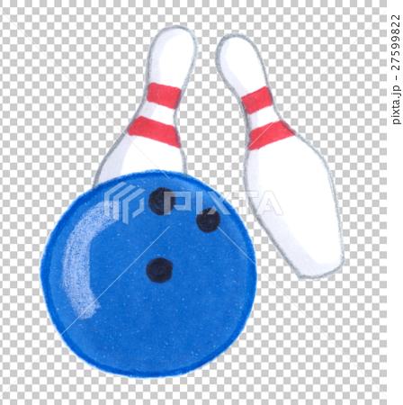 ボウリングのピンとボール 27599822