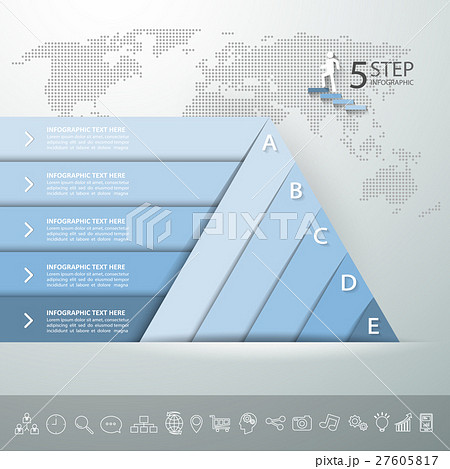 design pyramid infographic template のイラスト素材 27605817 pixta