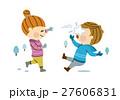 雪で遊ぶ男女 27606831